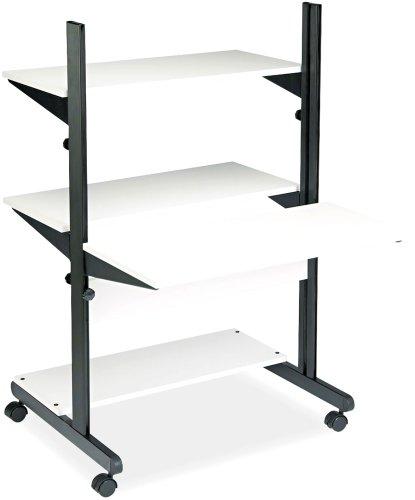 Mayline 8432SOGRYBLK SOHO Adjustable Computer Table 32