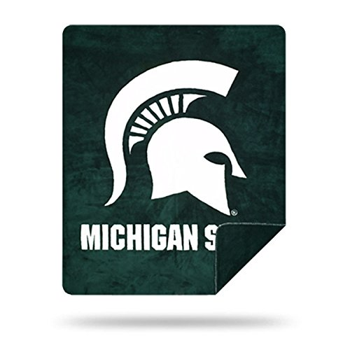 Officially Licensed NCAA Michigan State Spartans Denali Silver Knit Throw Blanket, Green, 60