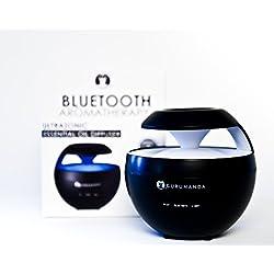 "GuruNanda ""Zen"" Aromatherapy Diffuser Ultrasonic Essential Oil Aromatherapy Diffuser with Built-in Bluetooth Speaker and Happy Breath Yoga De-Stress Book"