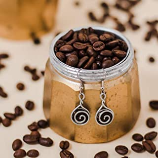 product image for Coffee Bean Earring Gift for Women, Coffee Drinkers Jewelry Made with love in the Dominican Republic