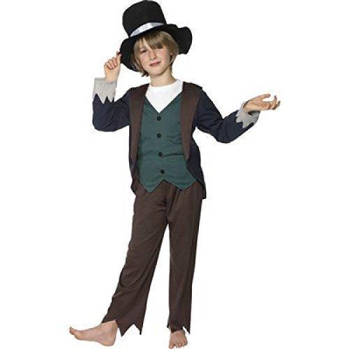 Fancy Me Big Boys' Peasant Victorian Poor Street Urchin Artful Dodger Oliver 7-9 Years (Artful Dodger Fancy Dress Costume)