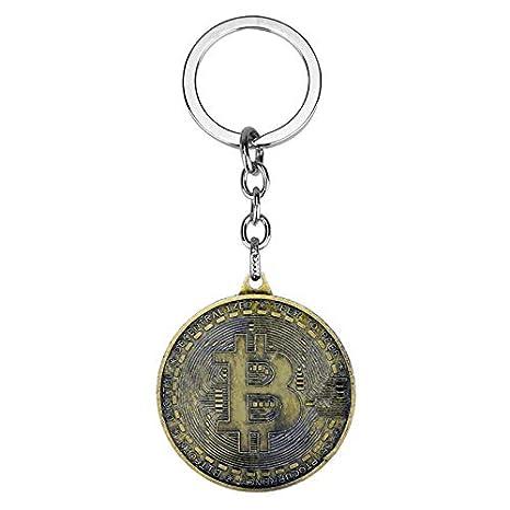 CLEARNICE Llavero Nuevo Caliente Bitcoin Llavero Aleación ...