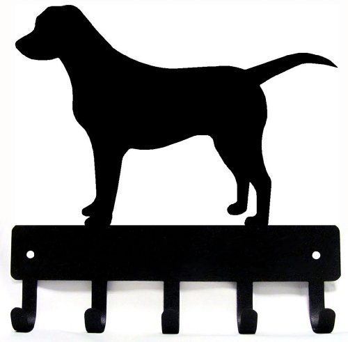 Holder Leash Retriever - Labrador Retriever Key Rack & Dog Leash Hanger - Small 6 inch