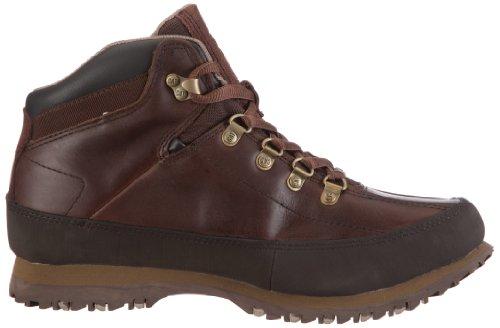 Mens Larv Läder Boots Återställa - Mörkbrunt Läder - Uk Storlek 6 - Eu Storlek 40 - Oss Storlek 7