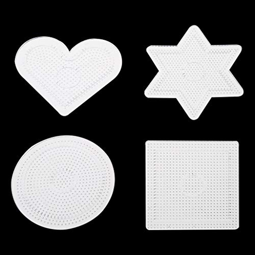 Forgun 4Pcs DIY Transparent Shape Puzzle Template for 2.6mm Hama Beads Perler Beads from Forgun