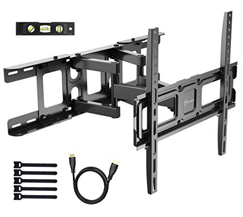 Full Motion TV Wall Mount for Most 32-55 Inch LED,LCD,OLED Flat Panel TVs up to 99lbs - Fits 16