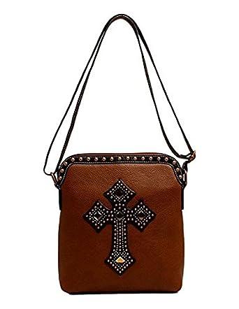 Blazin Roxx Womens Delilah Rhinestone Cross Messenger Bag