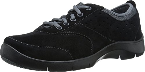 Dansko Women's Elaine Fashion Sneaker, Black Suede, 38 EU/7.5-8 M US