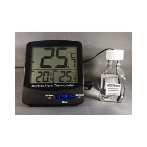 Thermco ACC895REF Large Digit Triple Display 30ml Bottle Digital Thermometer, Incubators, -50 to 70°C Range