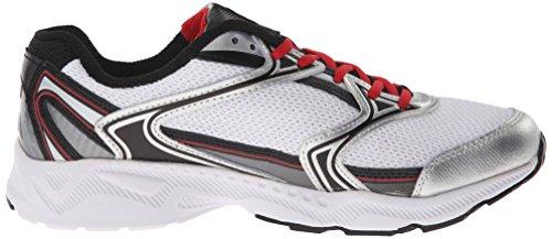 Fila Men's Xtent 2 Running Shoe, White/Black/Fila Red, 8.5 M US