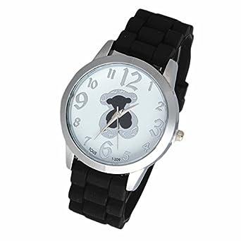 Relojes Mujer Oso nuevo famosa marca correa de silicona de moda reloj de oro de oso para niña Ladies Reloj de mujer regalo wk0785 - 3: Amazon.es: Relojes