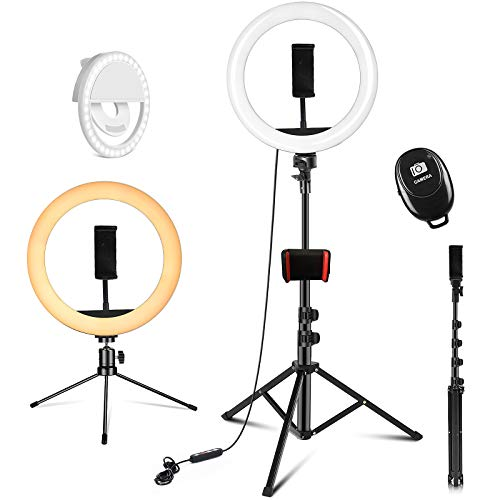 PEHESHE 10.2″ Selfie Ring Light with Tripod Stand 63″/160 cm Right Light with Stand Selfie Light ARO De Luz Phone Light Circle Light for YouTube/Photography/Video/TIK Tok