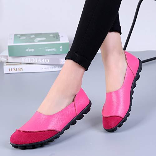Ocio Zapatos Planos Zapatos De Plano Zapatos Casual Fondo De De Pink Grandes Mujer Bajos AIMENGA Guisantes 74w6qA5q