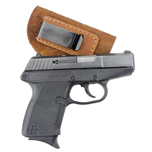 Relentless Tactical The Ultimate Suede Leather IWB Holster | Made in USA | Fits Glock 42 | Ruger LC9, LC9s | Kahr CM9, MK9, P9 | Kel-Tec PF9, PF11 | Kimber Solo Carry | Plus Many More... | Brown, Right