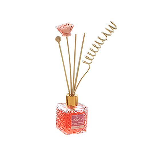 - Golike Reed Diffuser Natural Stick Glass Bottle Sesame Oil 80Ml No Fire Aromatherapy Essential Oil Set Water Cube Color