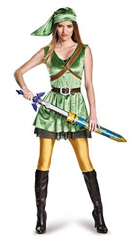 Disguise Women's Legend of Zelda Link Adult Costume, Green, (Link Costumes For Women)