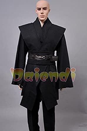 Daiendi - Disfraz de Anakin Skywalker para adulto, color negro
