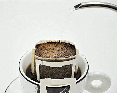 50 pieces/bag Hanging Ear Drip Coffee Filter Paper Bag Eco-friendly Material Drip Type Portable Coffee Paper Filter