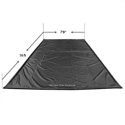 GarageMatExpress Black Heavy Duty 7'9'' x 16' Compact Size Floor Containment Mat for Snow, Oil, Mud, Ice by Garage Mat Express (Image #1)