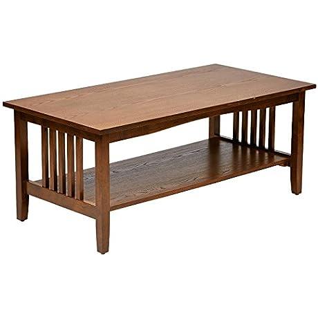 Metro Shop Sierra Mission Medium Oak Finish Coffee Table Mission Coffee Table In Medium Oak Finish