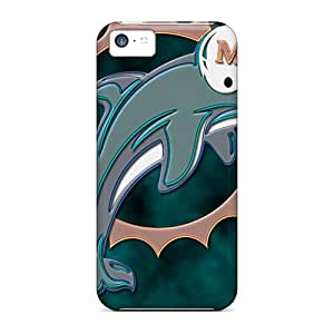 Cases Covers For Iphone 5c Strong Protect Cases - Miami Dolphins Design
