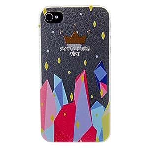Caso colorido cristal del patrón para el iPhone 4/4S