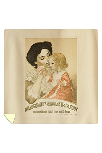 Delangrenier's Arabian Racahout Vintage Poster (artist: Steinlen) France c. 1905 (88x88 Queen Microfiber Duvet Cover) by Lantern Press