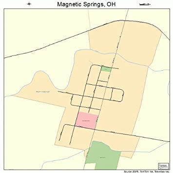 Amazon Com Large Street Road Map Of Magnetic Springs Ohio Oh