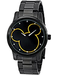 Disney Unisex W001989 Mickey Mouse Analog Display Analog Quartz Black Watch