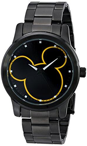 Mickey Mouse Xmas - Disney Unisex W001989 Mickey Mouse Analog Display Analog Quartz Black Watch