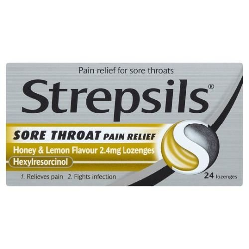 Strepsils Throat Sore Throat Pain Relief Honey And Lemon 24 Lozenges (Best Lozenges For Sore Throat Uk)