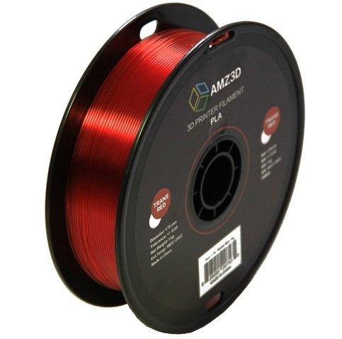 1.75mm Transparent Red PLA 3D Printer Filament - 1kg Spool (2.2 lbs) - Dimensional Accuracy +/- 0.03mm