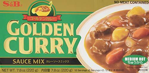 S&B Golden Curry Sauce Mix, Medium Hot, 8.4-Ounce