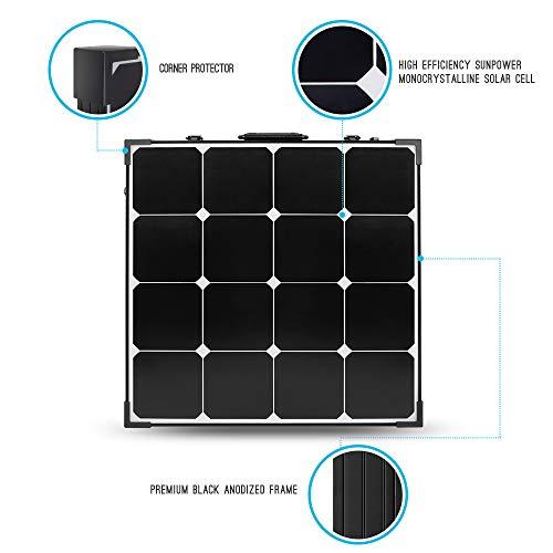 Renogy 100 Watt Eclipse Monocrystalline Charge 20A Voyager Waterproof Controller Solar Suitcase, 100W-Waterproof by Renogy (Image #1)