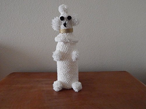 White Poodle Wine Bottle Cover (Poodle Cover)