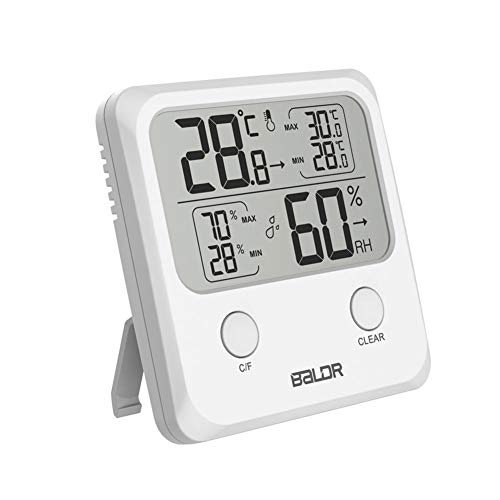 Jocestyle Digital Thermometer Hygrometer Kitchen Indoor LCD Electronic Temperature Humidity Mini MAX/MIN Meter