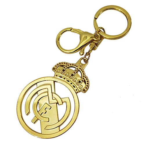 FOOT-ACC Real Madrid, Barcelona, Juventus, Manchester United, Arsenal, PSG, Chelsea, Liverpool Sports Fan Key Chains Soccer Team Football Metal Pendant Keyring Keychain (Real Madrid) (Real Keychain Metal Madrid)