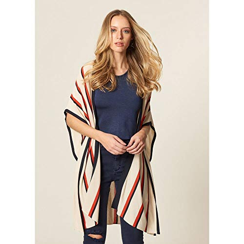 Kimono Tricot Com Listras Listrado - P