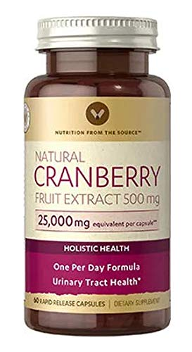 (Natural Cranberry Fruit Extract 500mg 60 Rapid Release Capsules )