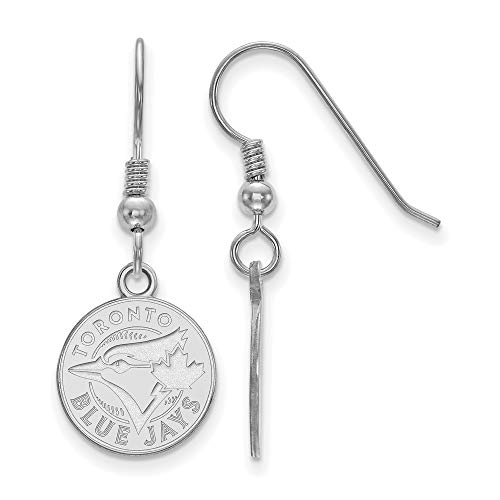 (MLB Toronto Blue Jays Sterling Silver MLB LogoArt Toronto Blue Jays Small Post Earrings Size One Size)