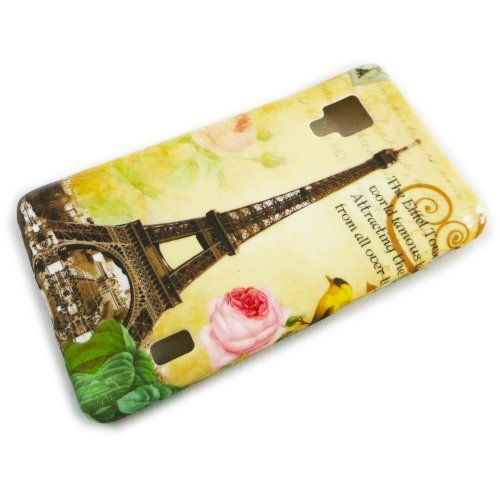 LG Optimus L5 E455 E460 2 II Protección de silicona Paris La Tour Diseño Caja del teléfono Caja caja de parachoques thematys®