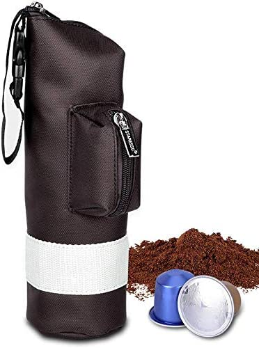 STARESSO Portable Espresso Maker Carry BagCompatible with Travel Business Trip Outdoor Activity Lightweight Waterproof Protective Zipper Punch for Manual Coffee Maker Capsule