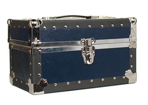 Gilbin Summer Camp and College Dorm Mini Storage Trunk Organizer Keepsake Box Treasure Chest Footlocker Size 14