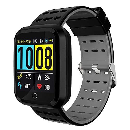 """moreFit Hart Pedometer Smart Watch Men, Unique 1.3"""" Color Sc"""