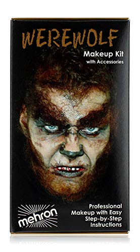 Halloween Makeup Ideas For Guys With Beards (Mehron Makeup Premium Character Kit)