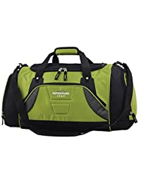 Travelers Club Luggage 20 Inch Multi Pocket Duffel with Wet Shoe Bag, Green