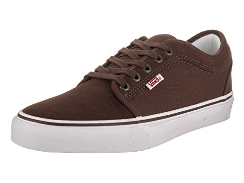 Vans Men's Chukka Low French Roast/White/Red Skate Shoe 8 Men US