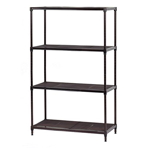 "Review Giantex 29""x13""x48"" 4 Layer Steel Storage Rack Shelf Mesh Organizer By Giantex by Giantex"
