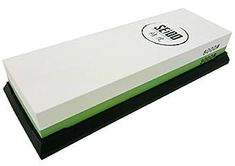 Seido 3000/8000 Grit Combination Corundum Whetstone Knife Sharpening Stone / Premium Waterstone Knife Sharpener