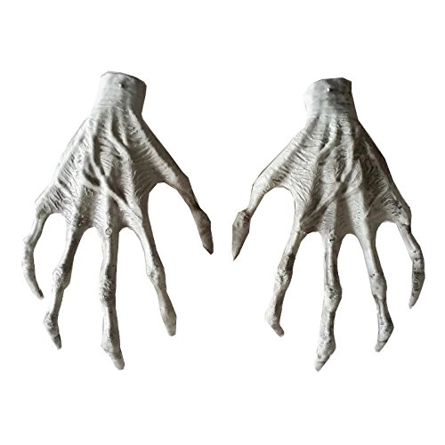 One Pair Halloween Skeleton Witch Hands Plastic Hands for Halloween -